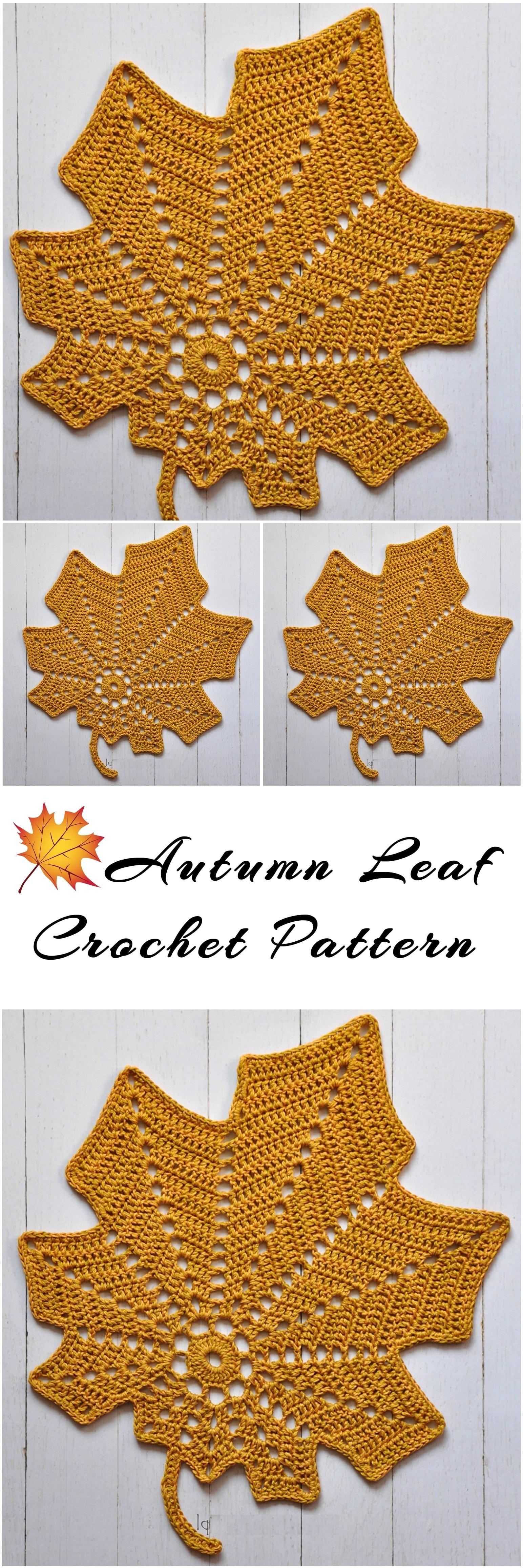 Autumn Leaf Free Crochet Pattern - Yarnandhooks