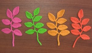 Branch With Leaves Bookmark Crochet Tutorial