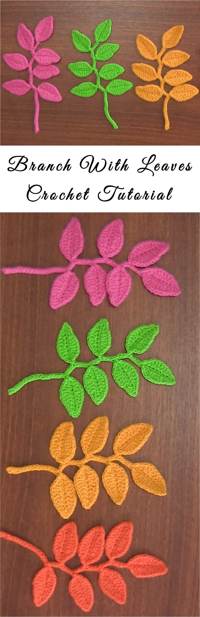 Branch With Leaves Bookmark Crochet Tutorial Yarn Hooks