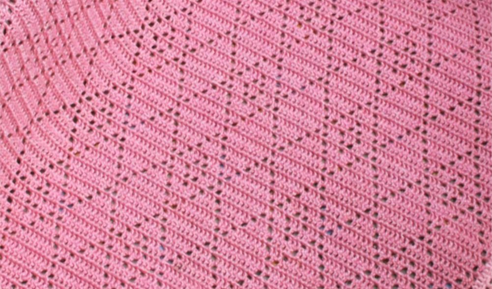 Diamond Stitch Blanket Free Crochet Pattern