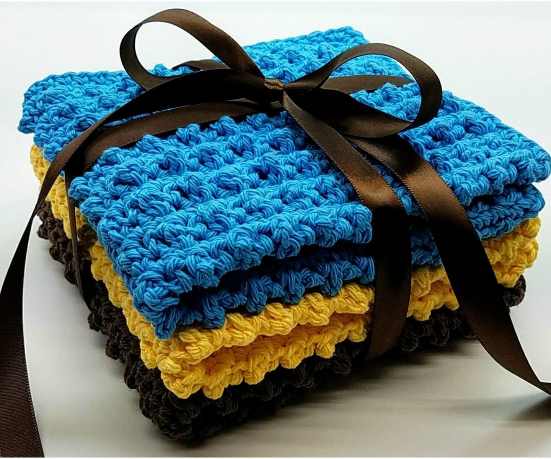 Cobblestone Washcloth Gift Set Crochet Tutorial