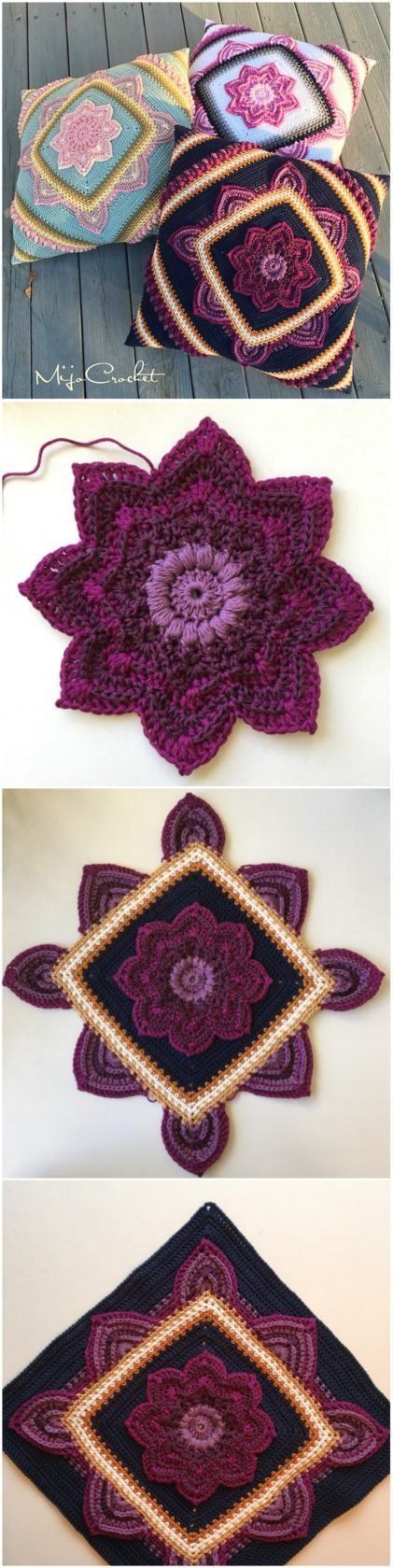 Crochet Blooming Flower Square - Free Pattern - Yarnandhooks