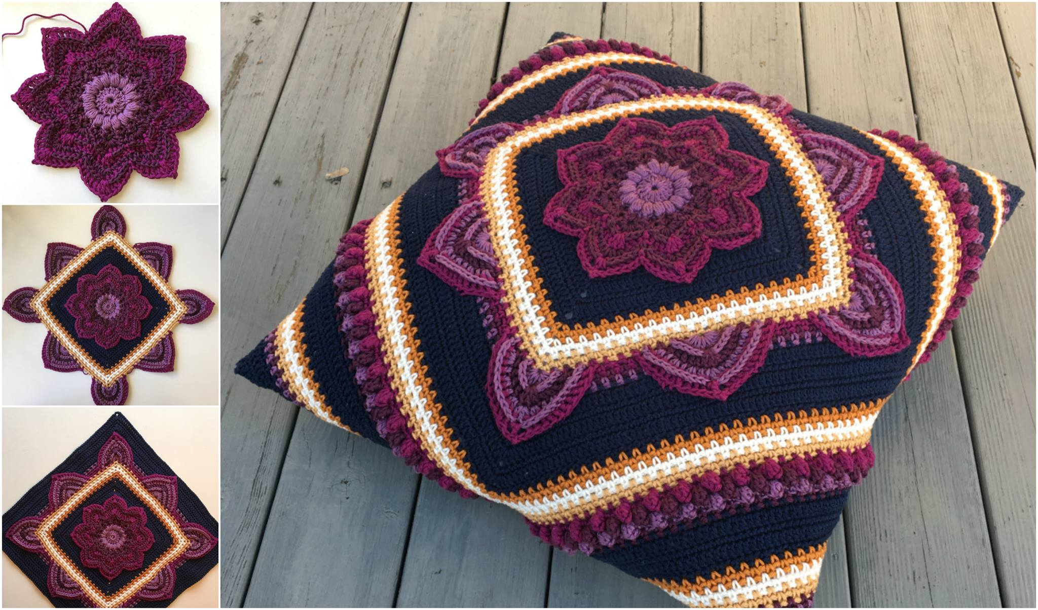 Crochet Blooming Flower Square – Free Pattern