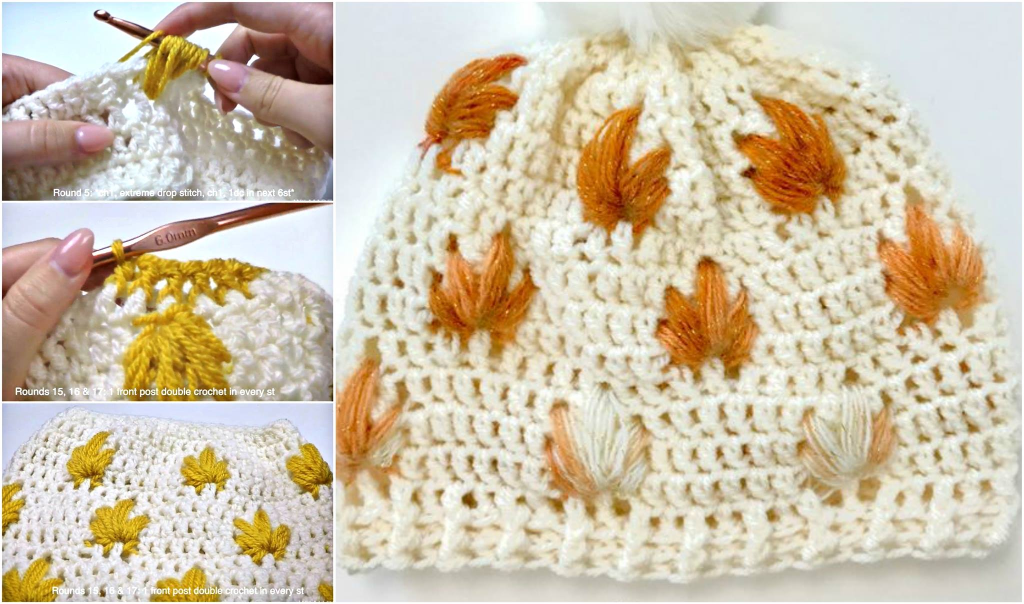 Leafly Autumn Hat Crochet Pattern + Video
