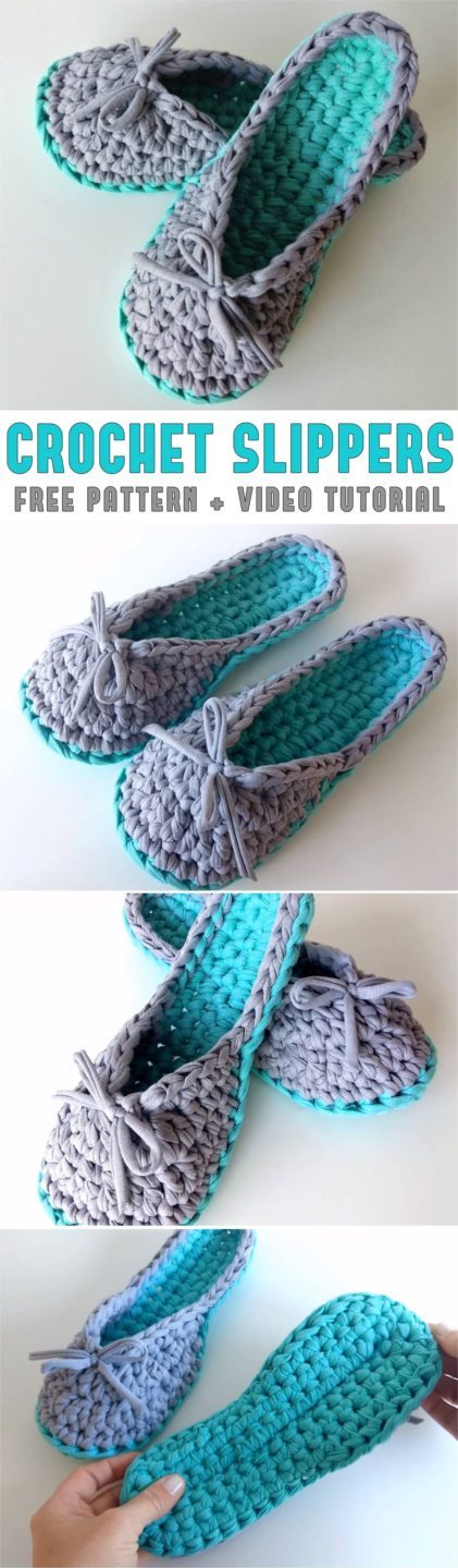 Crochet Slippers Pattern Video Tutorial Yarnandhooks