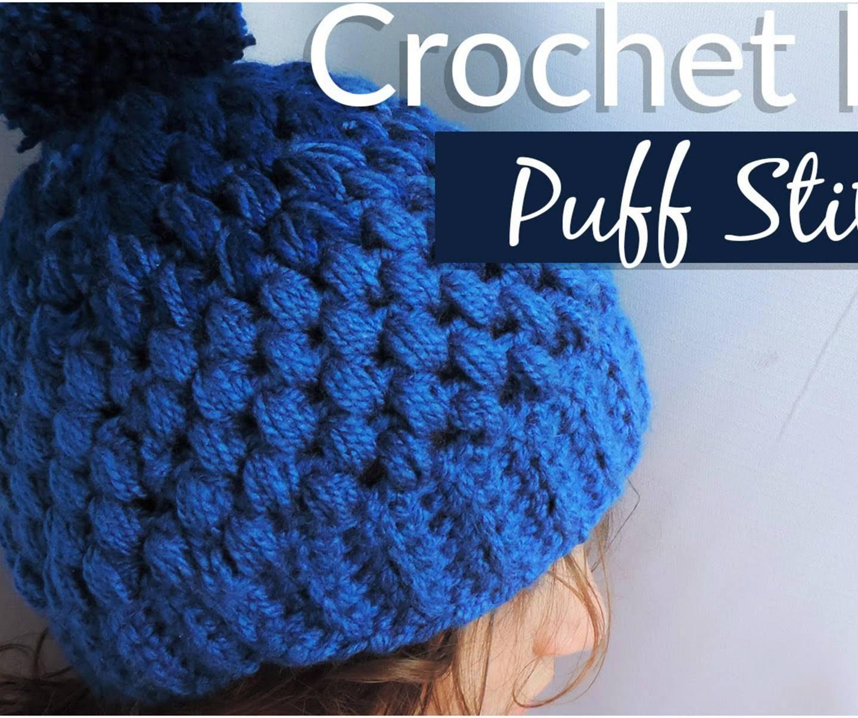 Puff Stitch Gradient Hat Free Crochet Pattern