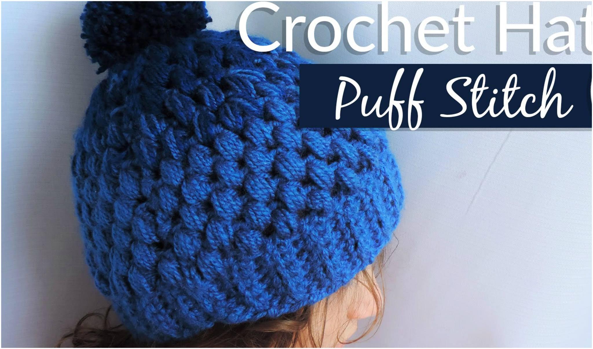Puff Stitch Gradient Hat Free Crochet Pattern - Yarnandhooks