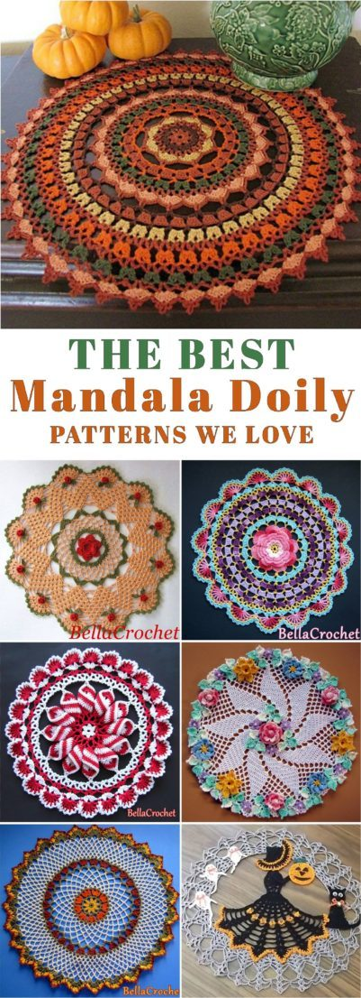 The Best Mandala Doily Crochet Patterns Yarnandhooks