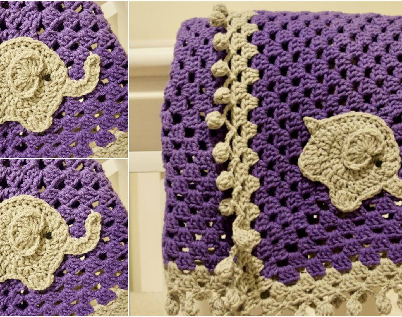 Elephant Blanket Free Crochet Pattern