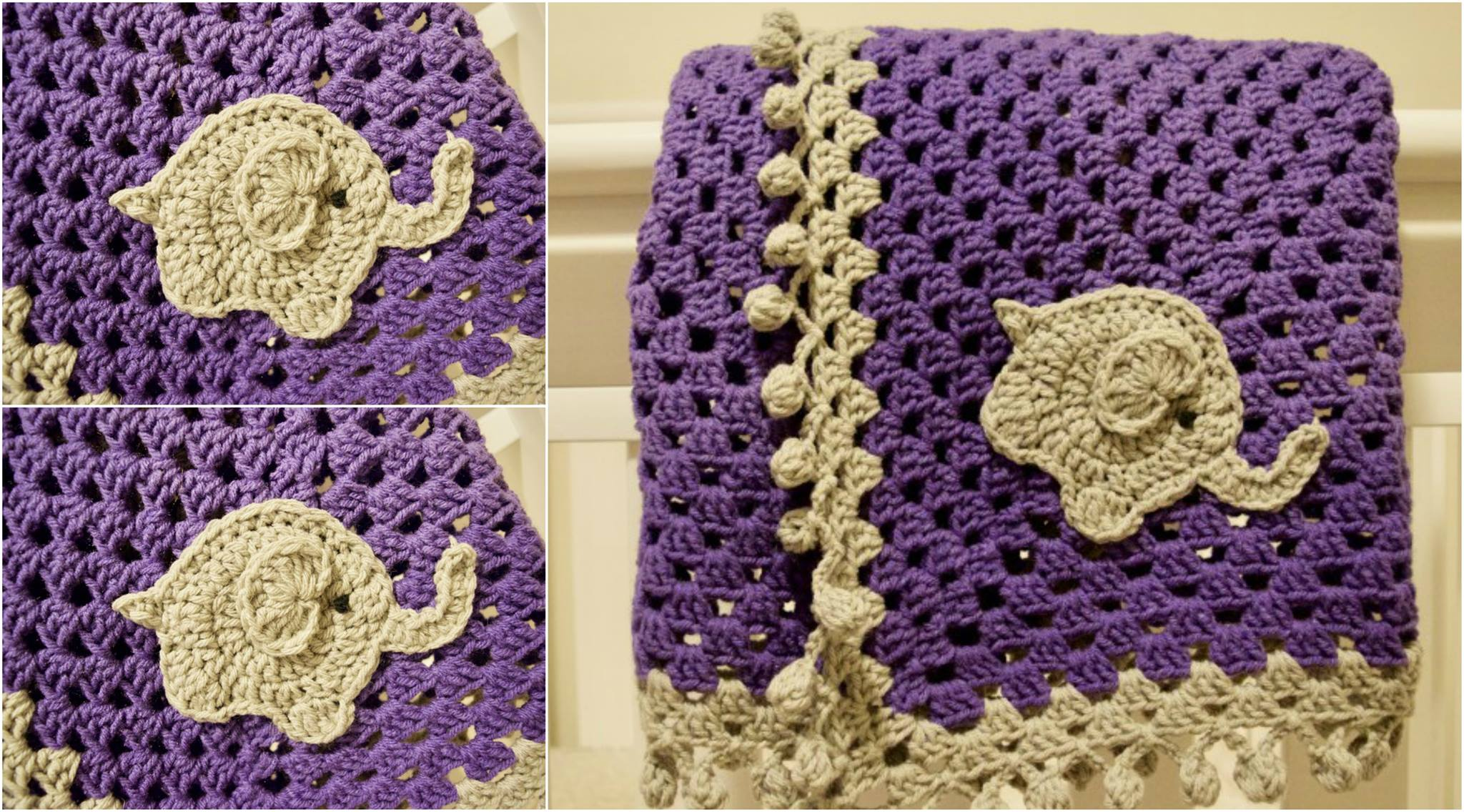 Free Crochet Pattern: Elephant Appliqué | Crochet elephant pattern ... | 1136x2048