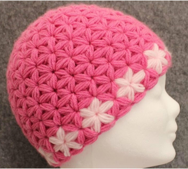 Crochet Jasmine Stitch Beanie Hat