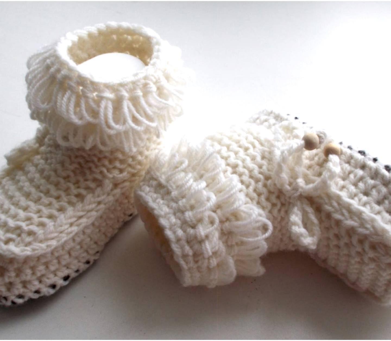 Crochet Leather Sole Booties