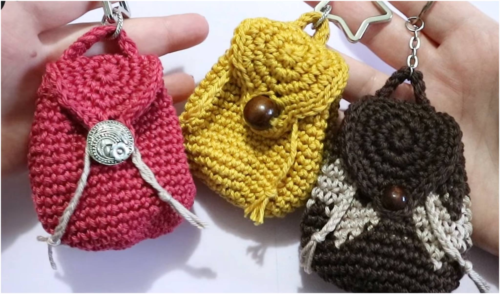 Crochet Mini Backpack Purse - Yarnandhooks
