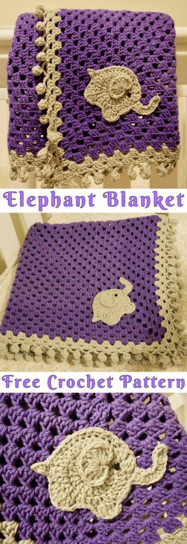 Elephant Blanket Free Crochet Pattern - Yarnandhooks