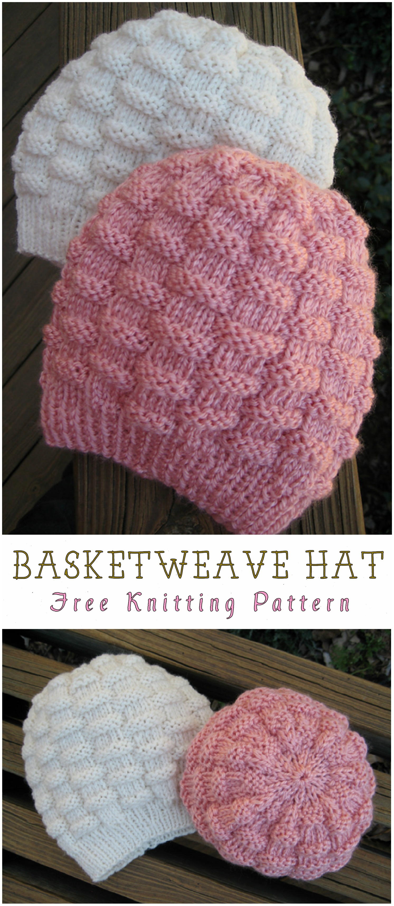 Basketweave Hat Free Knitting Pattern - Yarnandhooks