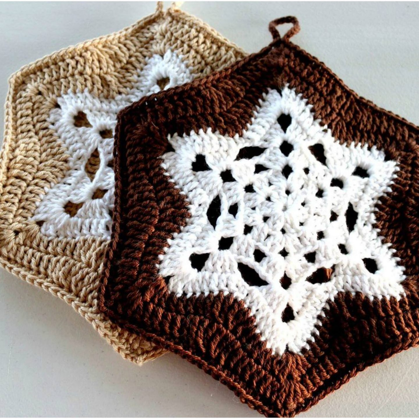 Crochet Snowflake Pot Holder