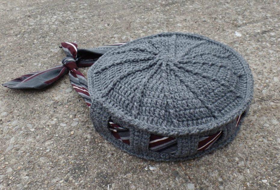 Crochet Tie or Belt Handbag Purse