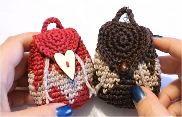 Crochet Tapestry Mini Backpack Purse Yarnandhooks