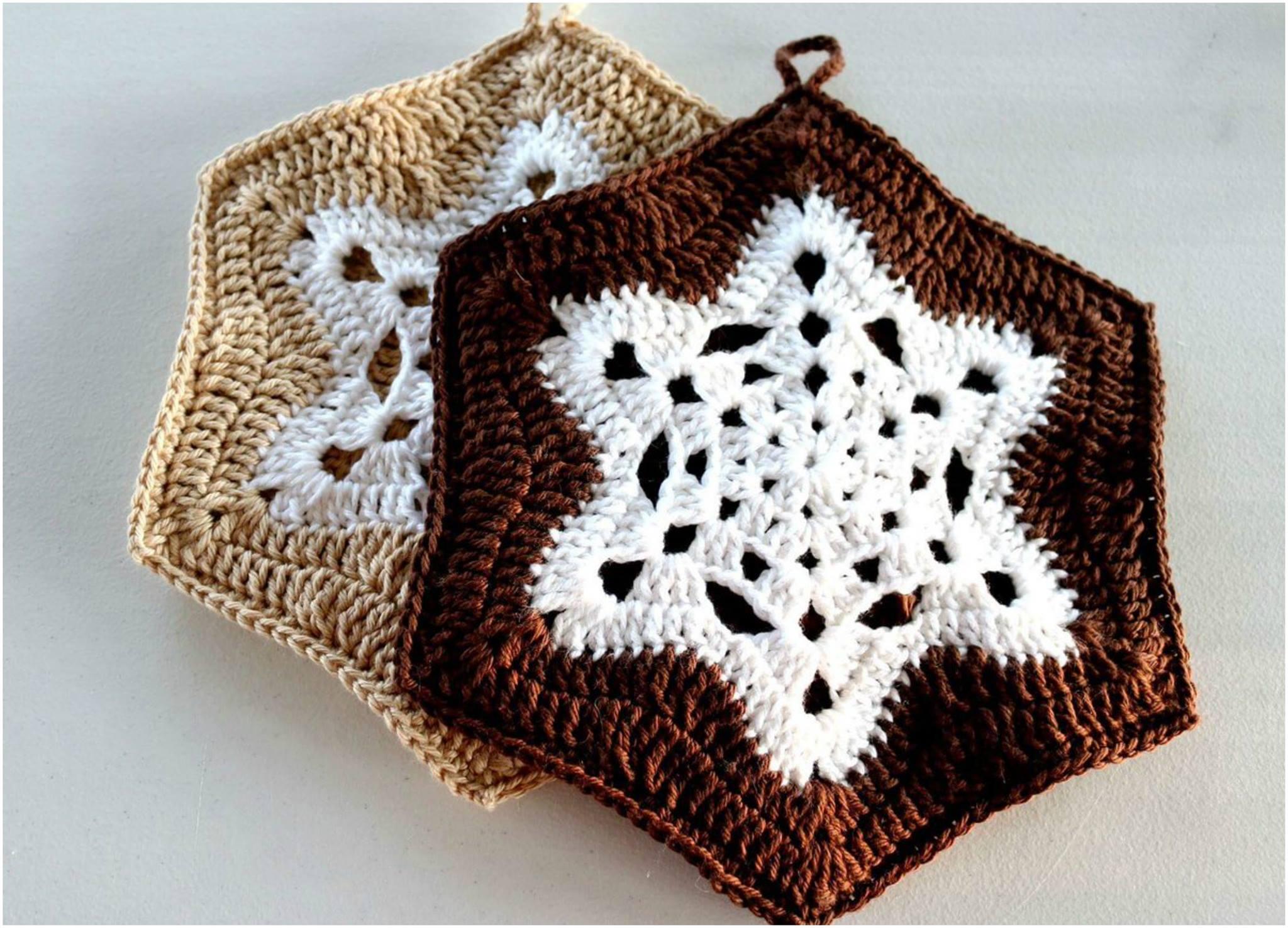 Crochet Snowflake Pot Holder