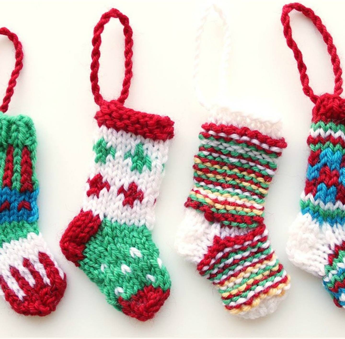 How To Knit Mini Christmas Stocking