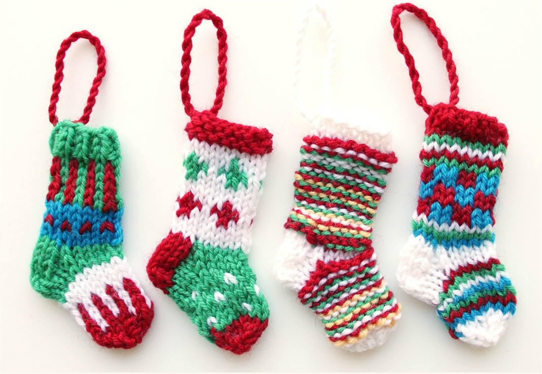 How To Knit Mini Christmas Stocking