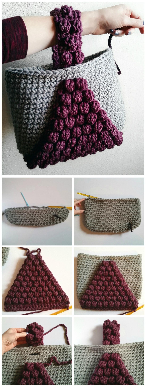 Bobble Handbag Free Crochet Pattern Yarnandhooks