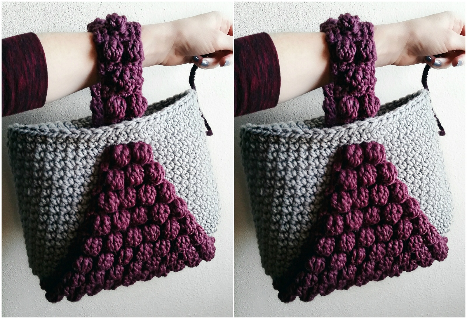 Bobble Handbag Free Crochet Pattern