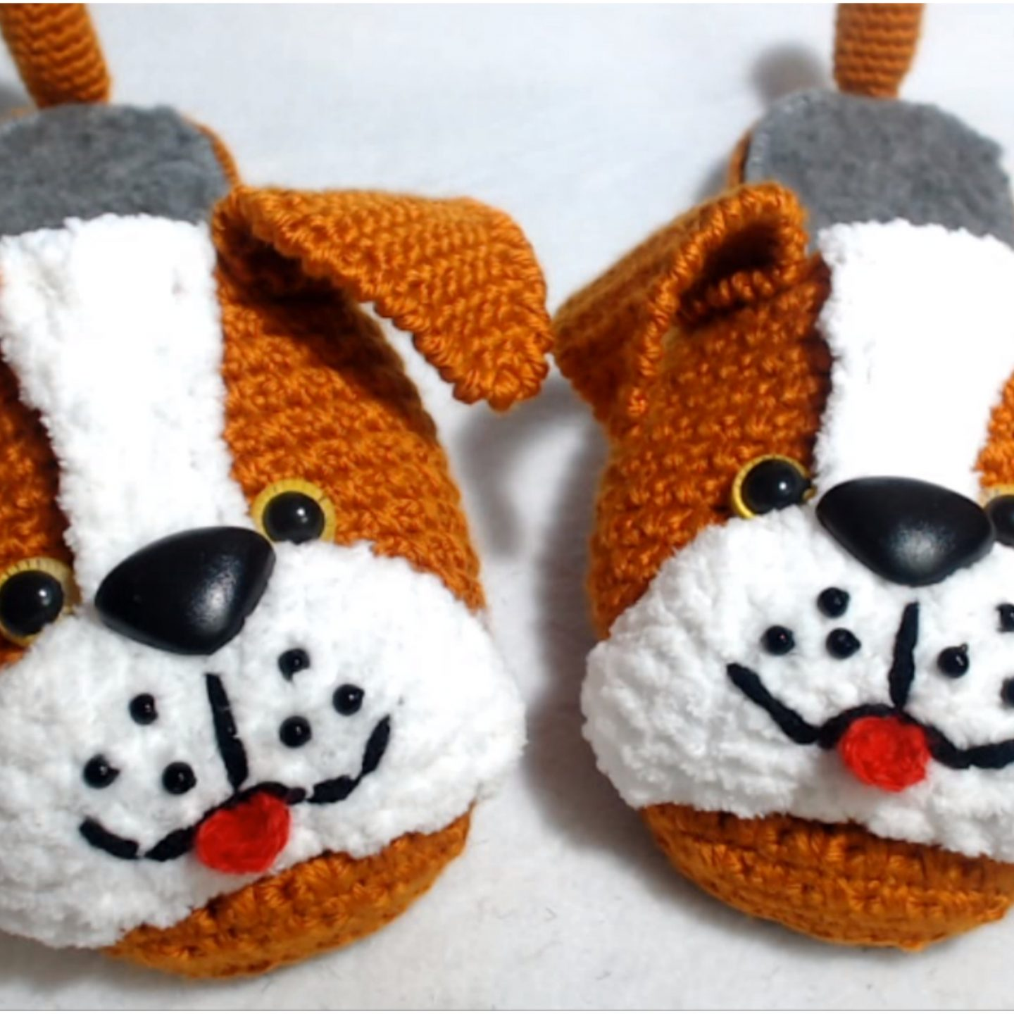 How To Crochet Puppy Slippers