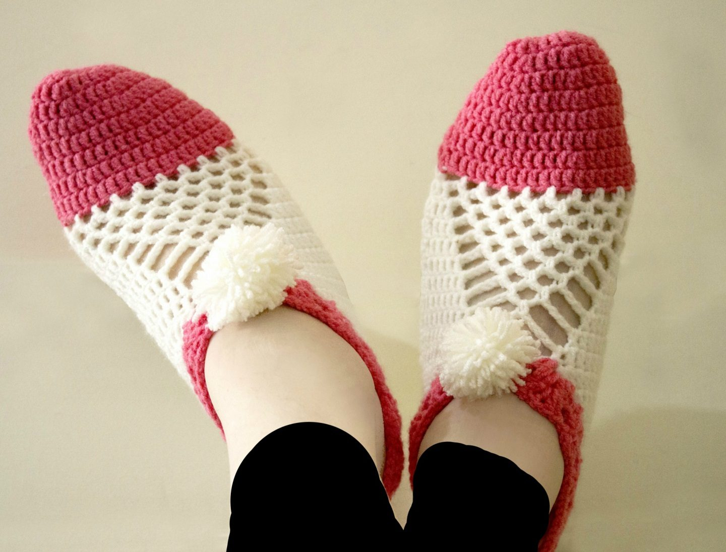 Easy To Make Cluster Crochet Slippers