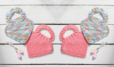 Crochet or Knit Baby Bibs – Free Patterns