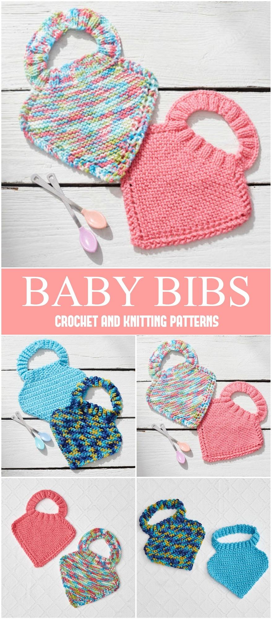 Crochet Or Knit Baby Bibs Free Patterns Yarn Hooks