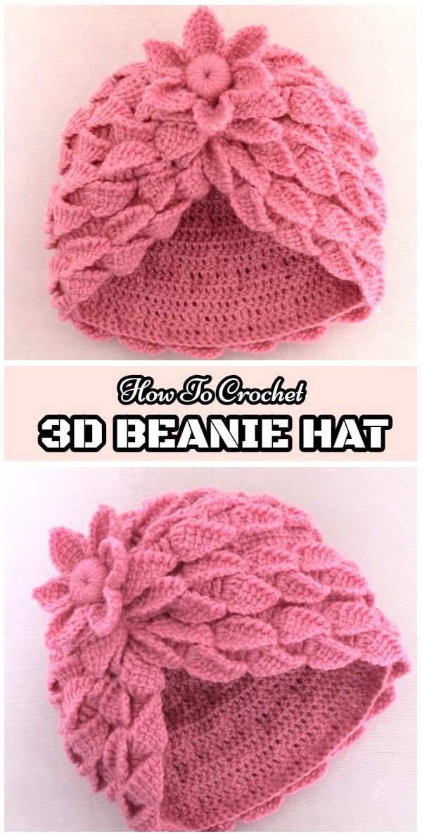 How To Crochet 3D Hat - Yarn   Hooks dfbd2941951