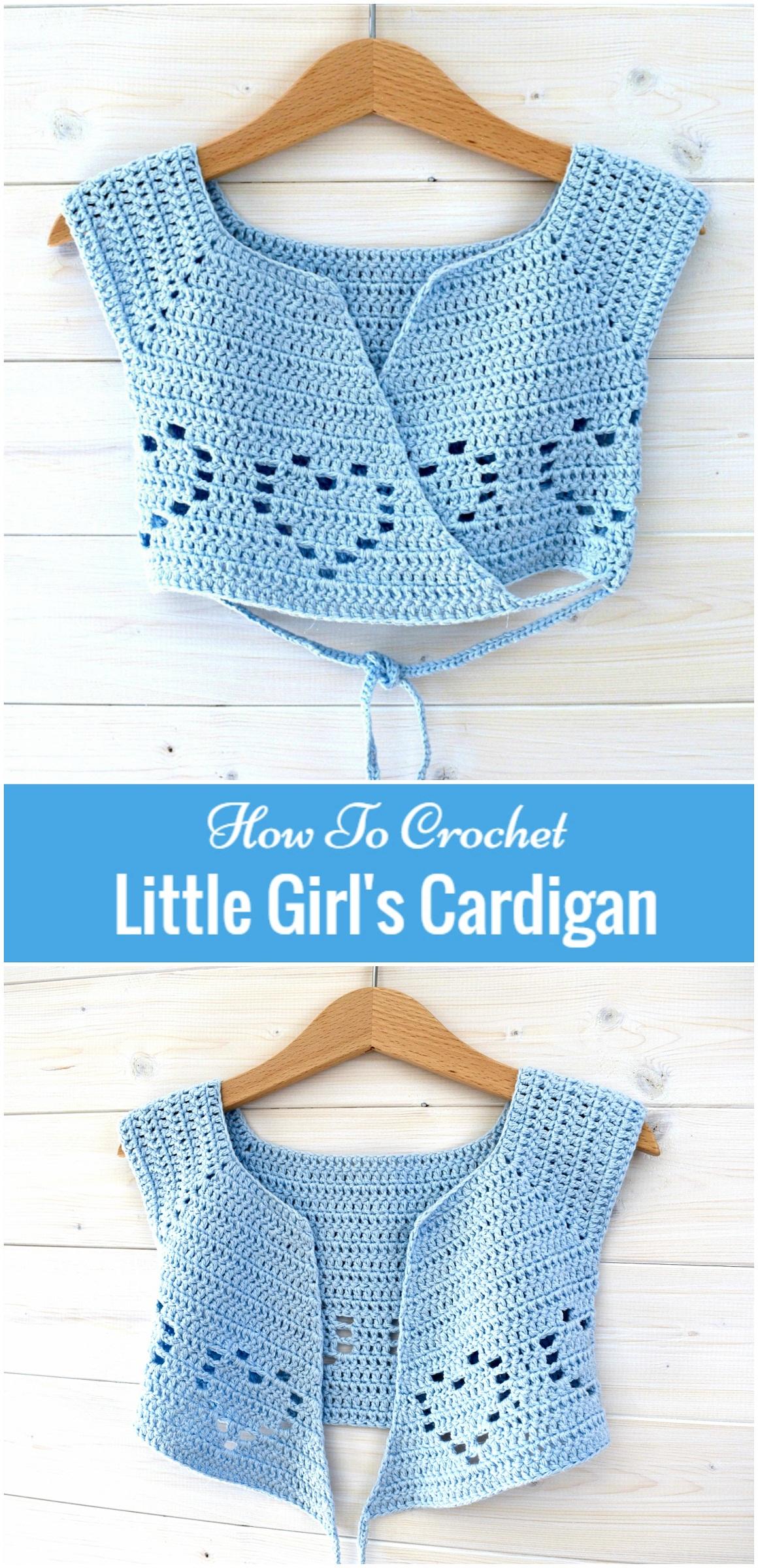 How To Crochet Little Girls Cardigan Yarn Hooks