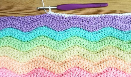 Crochet Ridged Ripple Blanket
