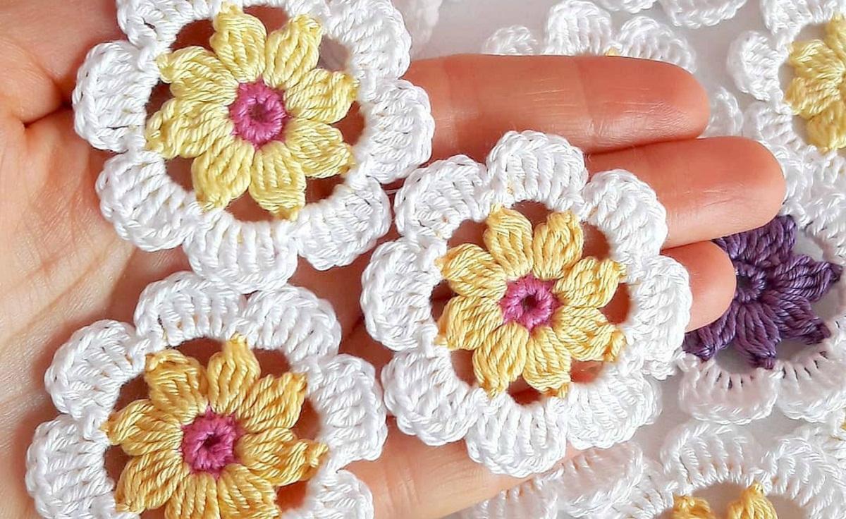 Crochet Flower Patterns For Beginners Yarn Hooks