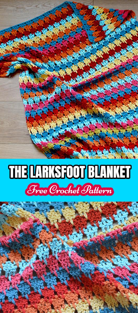 The Larksfoot Blanket Free Crochet Pattern Yarnandhooks
