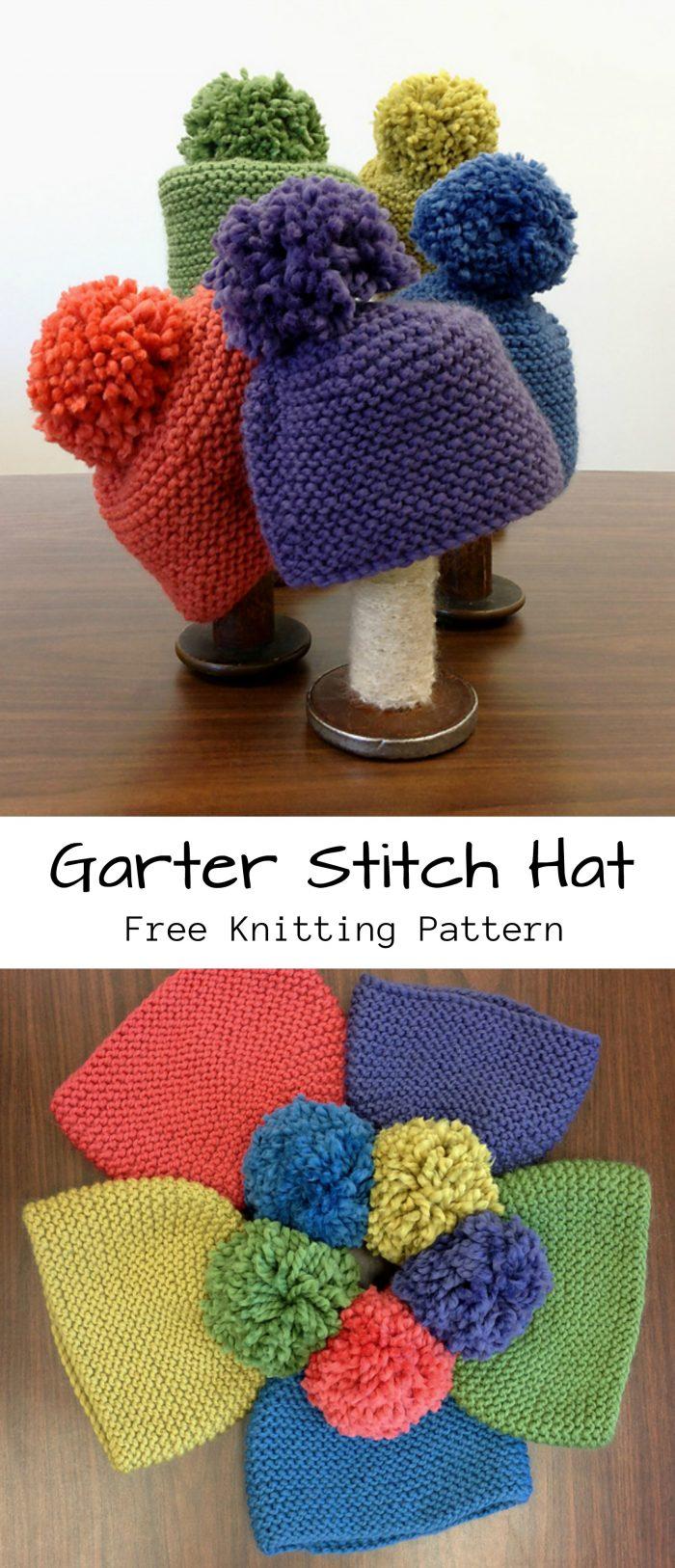 Garter Stitch Hat Free Knitting Pattern