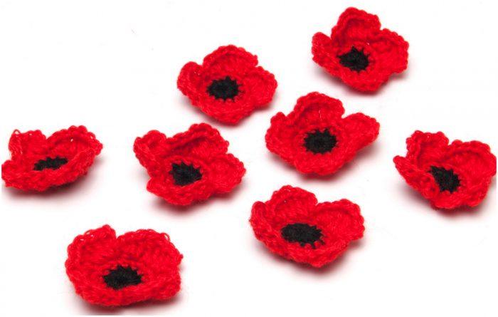 Crochet Or Knit Poppy Flowers