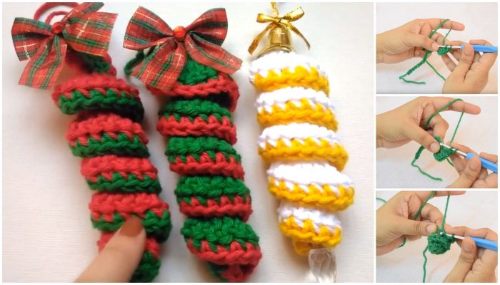 Crochet Christmas Ornament Curly Cue Tutorial