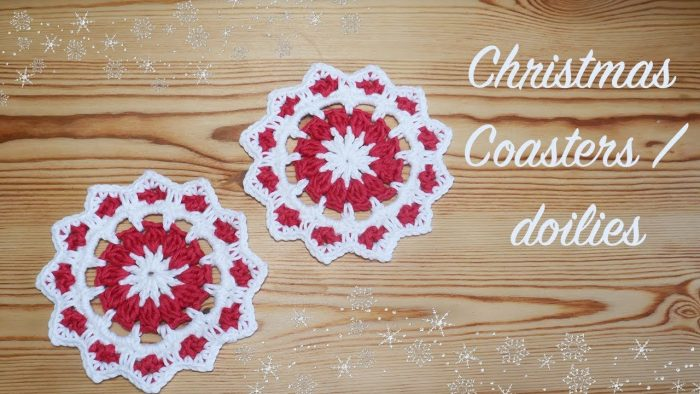 Christmas Crochet Coaster Tutorial
