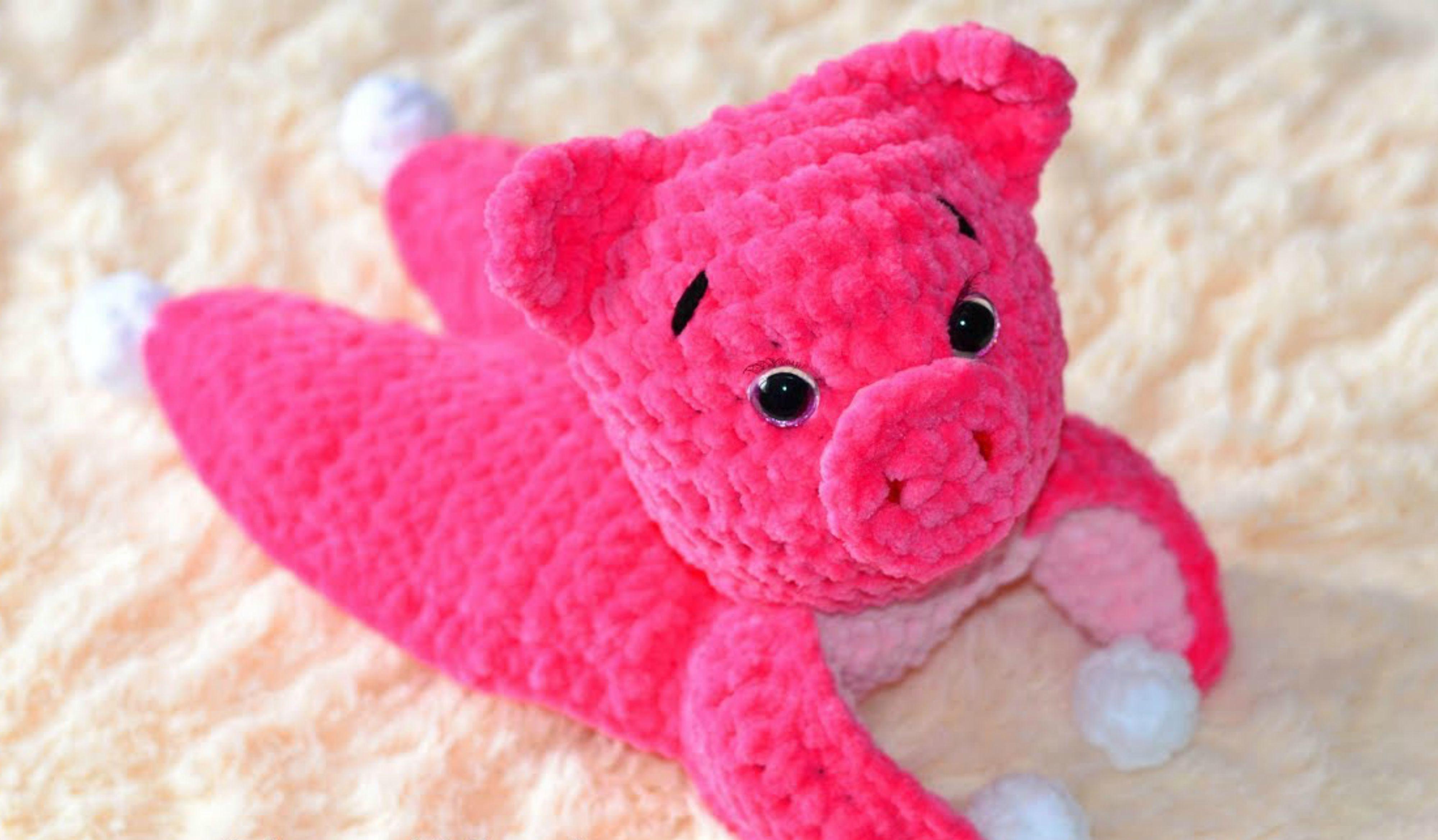 Crochet Pig PATTERN Amigurumi piglet pattern pdf tutorial | Etsy | 2338x4000