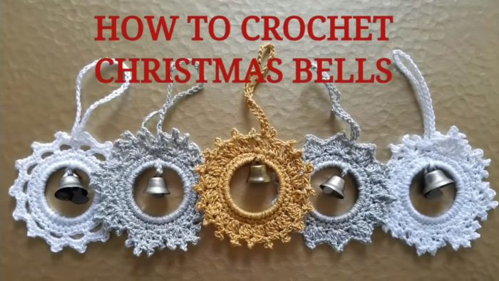 Crochet Christmas Ornament With Bell