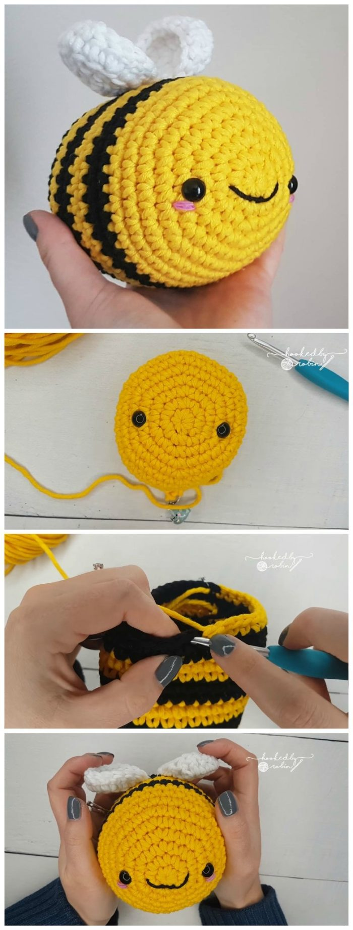 Crochet Bee Pattern | Crochet bee, Beginner crochet projects ... | 1840x700
