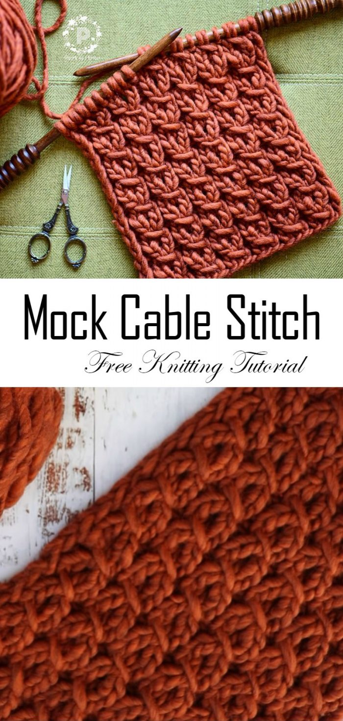 How To Knit Wrap Mock Cable Stitch