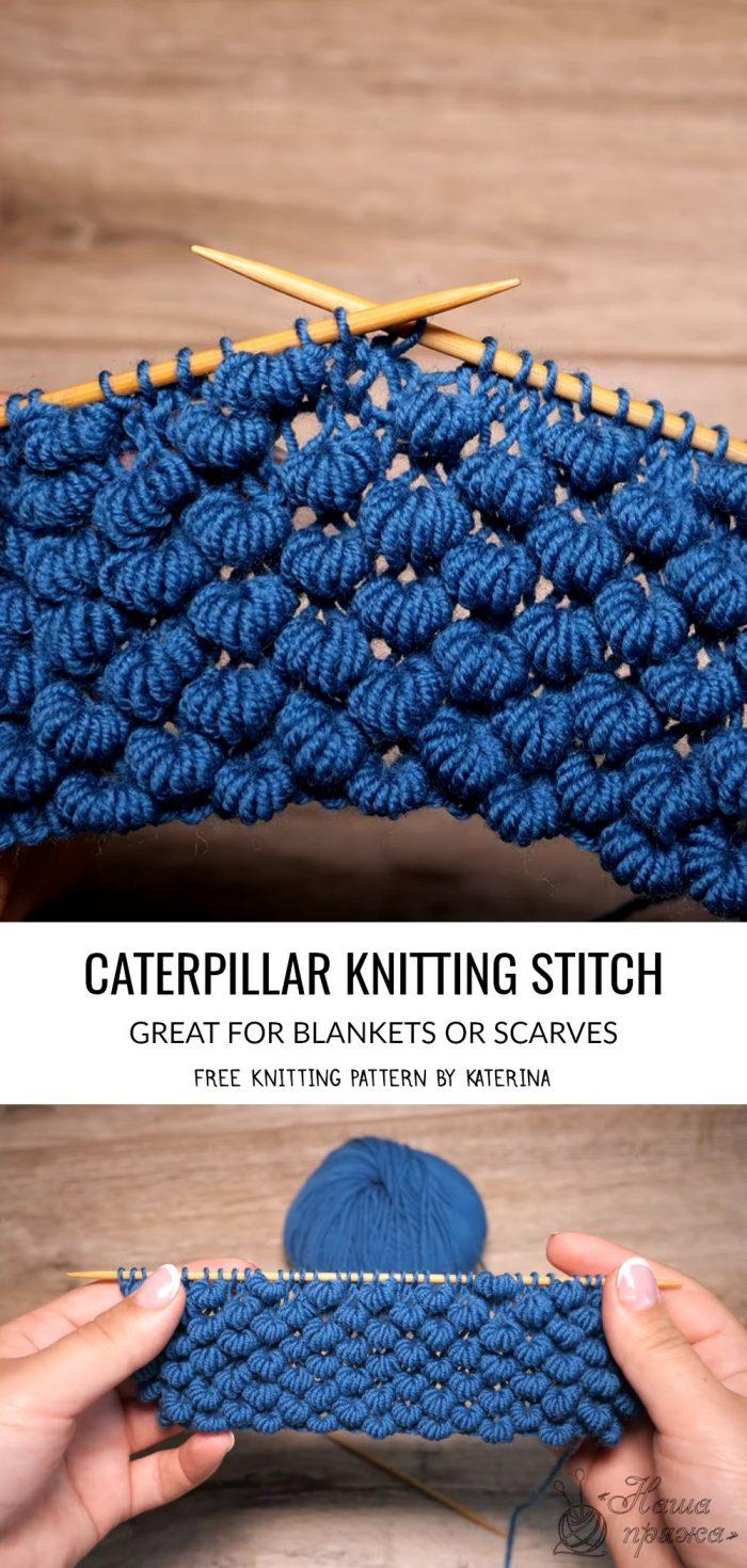 Caterpillar Stitch Knitting Pattern