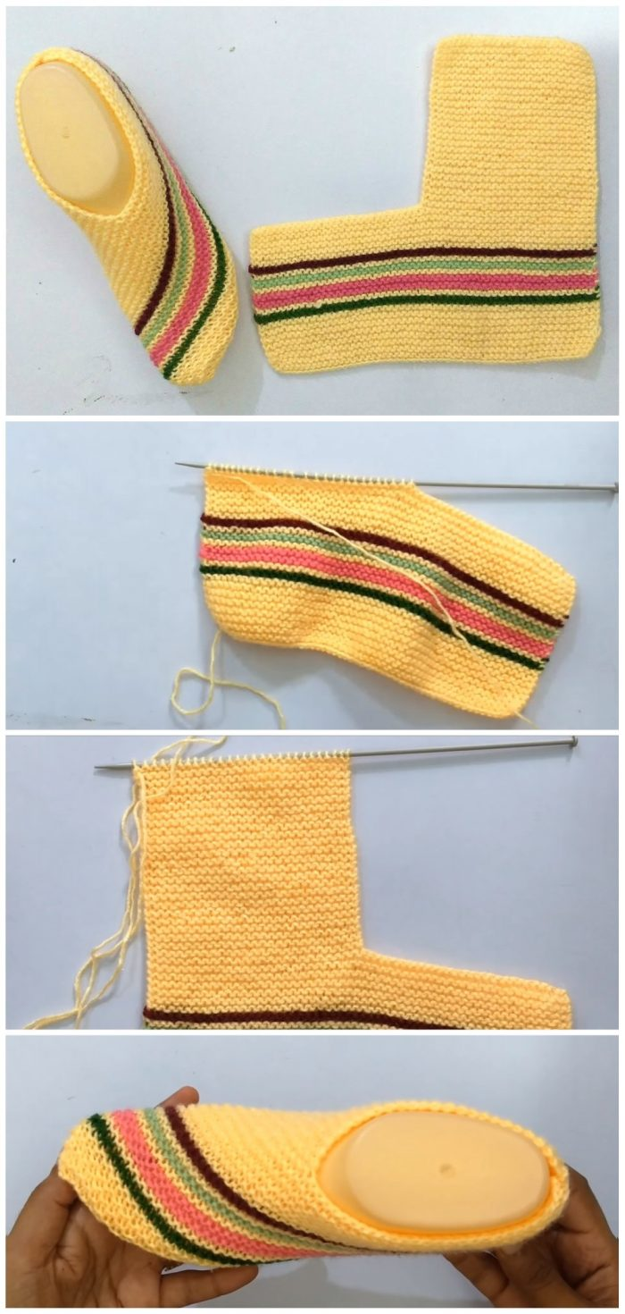 How To Knit Easy House Slippers