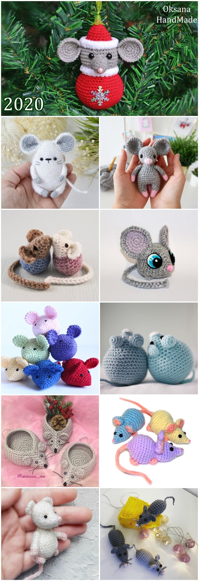 Crochet mouse tutorial and free pattern – The Green Dragonfly | 2035x700