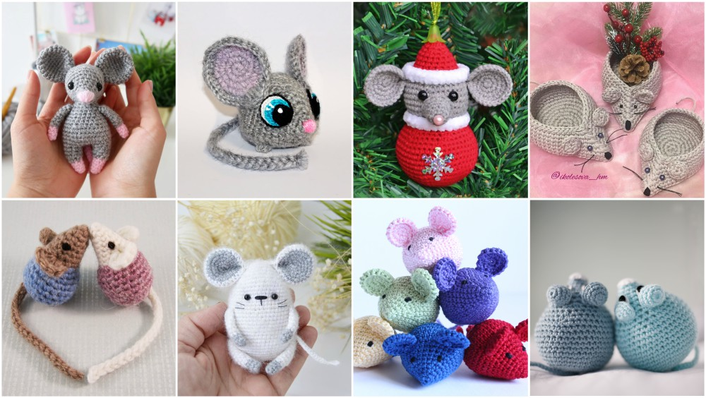 Lisa the crochet mouse - A free crochet pattern. Yarnhild.com | 564x1000