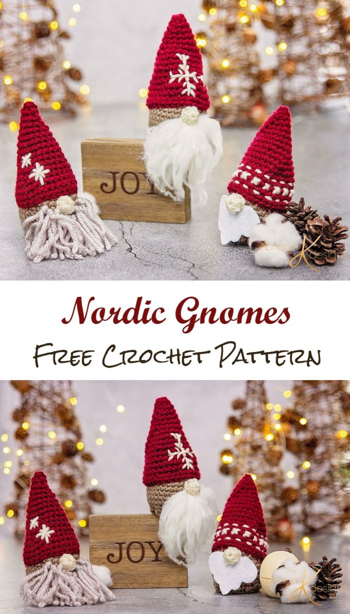 Nordic Gnomes Free Crochet Pattern