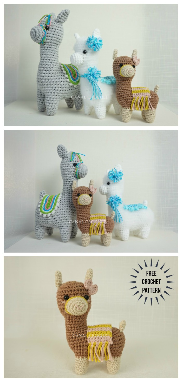 This alpaca is made mostly of one piece. | Crochet patterns ... | 1470x700
